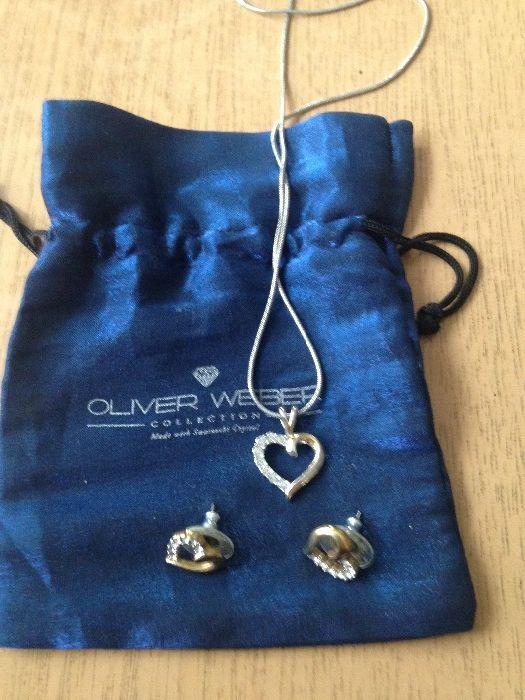 Комплект колие и обеци Oliver Weber collection Swarovski crystal