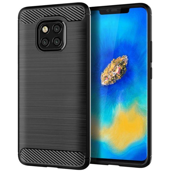 Луксозен черен калъф / кейс / гръб карбон Carbon за Huawei Mate 20 Pro