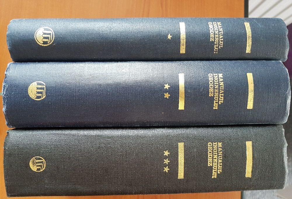 MANUALUL INGINERULUI GEODEZ (3 volume) 1972, 1973, 1974