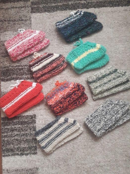 Papuci de casa tricotati