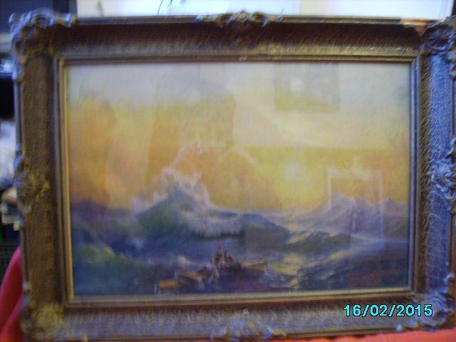 "vand tablou reproducere dupa ,,al 9-lea val"" pictorul rus Aivazovski"