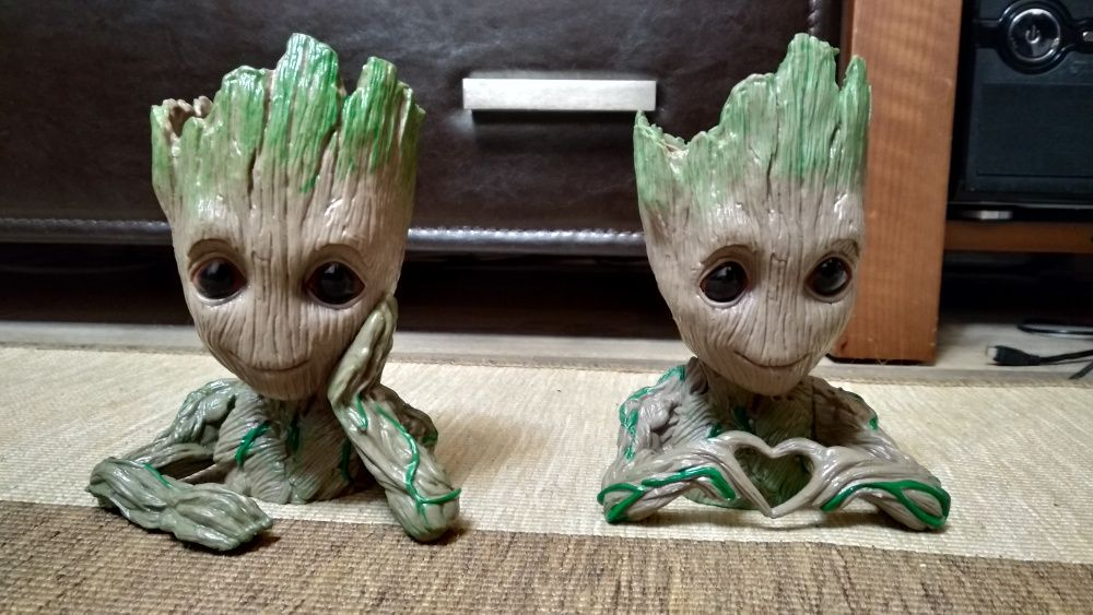 Suport creioane / ghiveci baby Groot
