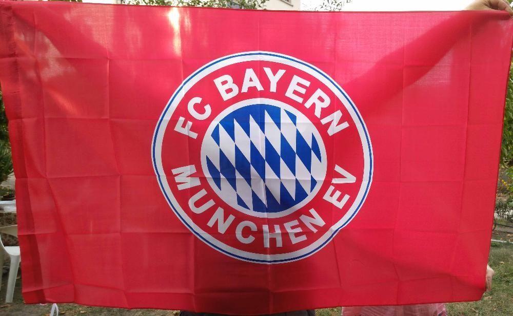 Ново голямо двустранно знаме на Байерн Мюнхен - 90/150см.