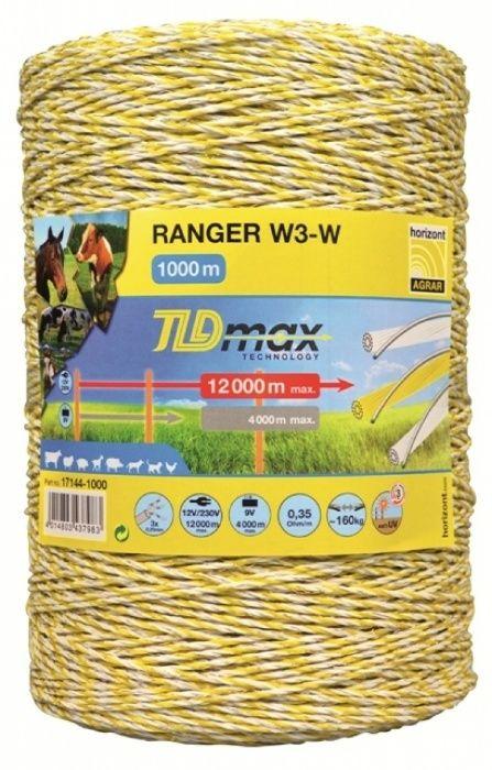 Rolă Fir Gard electric Ranger cu 3 lițe de sărmă 200m 400m 1000m