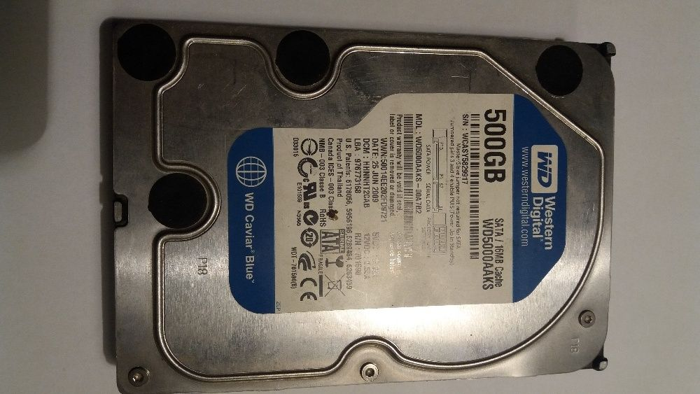 Vind HDD 500Gb,SATA 3,Western Digital