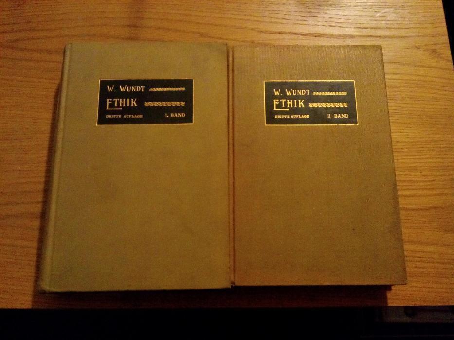 ETHIK * Wilhelm Wundt - Stuttgart, 1903, 2 vol., lb.germana