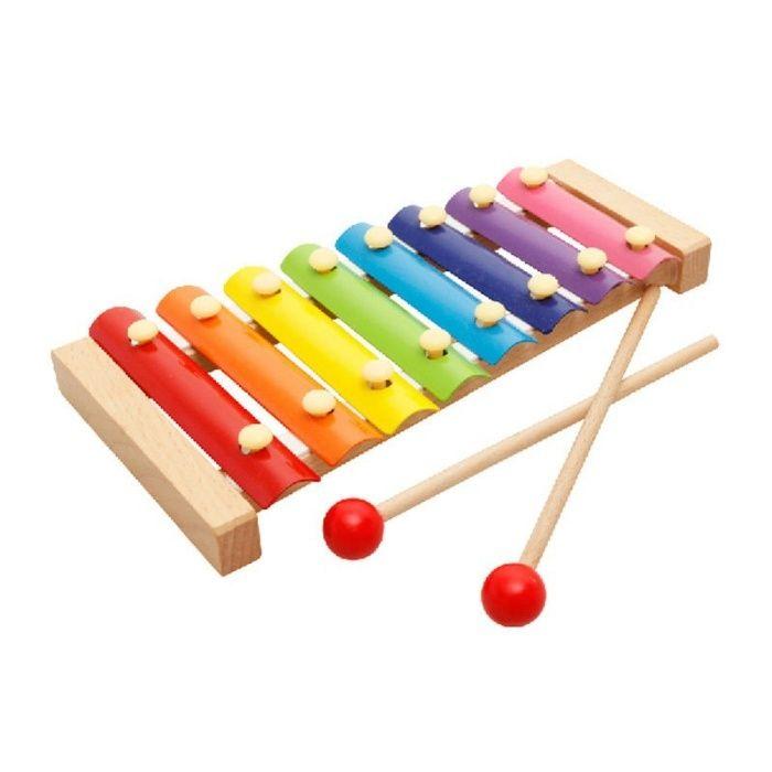 Детский ксилофон 8 нот (дерево, метал) металлафон, деревянные игрушки