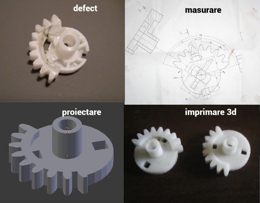 Imprimare/printare 3D si proiectare grafica 3D