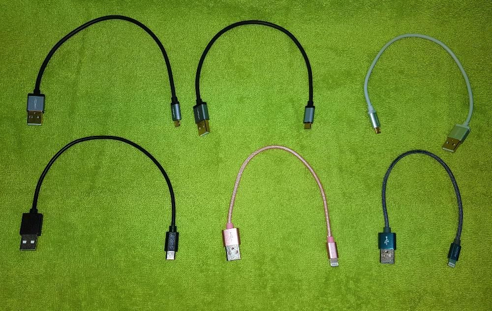 Cablu (Micro USB/iPhone/USB-C) cu incarcare rapida pt baterii externe