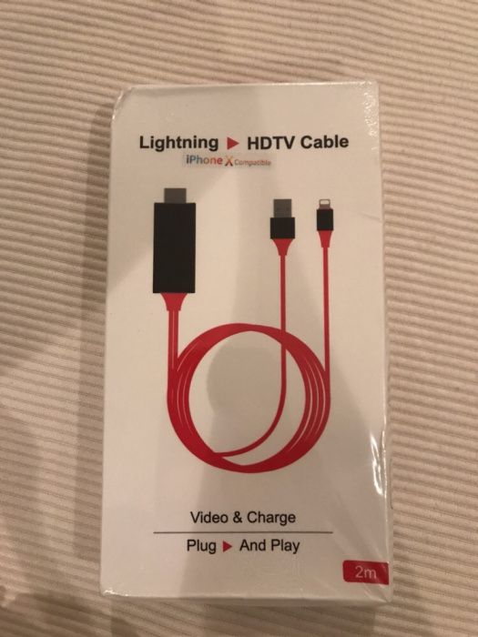 Cabos HDTV Android e IPhone lightning