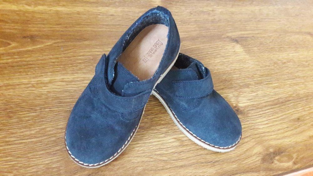 Pantofi zara piele marimea 23 albastrii inchis