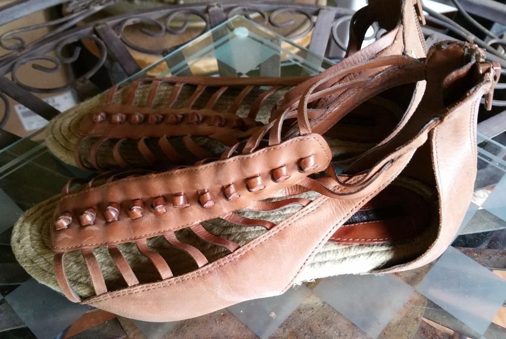 Sandale romane Zara din piele naturala