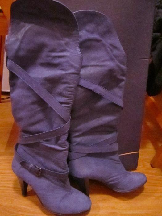 Дамски ботуши ( чизми ) DARIS, естествен велур