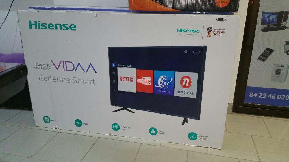 Super promoção de tvs hisense LED FULL HD 4k SMART 55 polegadas novas Bairro do Jardim - imagem 1
