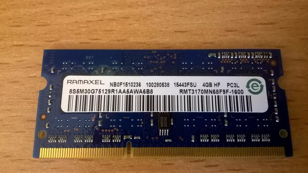 4gb memorie Ramaxel RMT3170MN68F9F-1600 PC3L Low 1.35V Lenovo Hp Asus