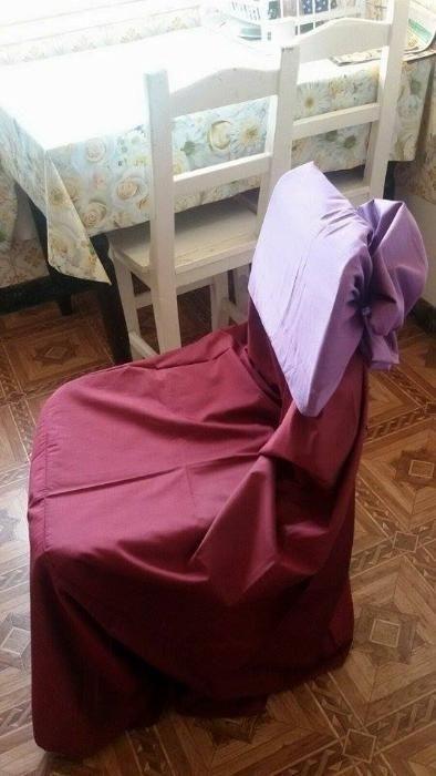 Huse scaune +FUNDE(gratis)- IDEALE pentru nunti si botezuri