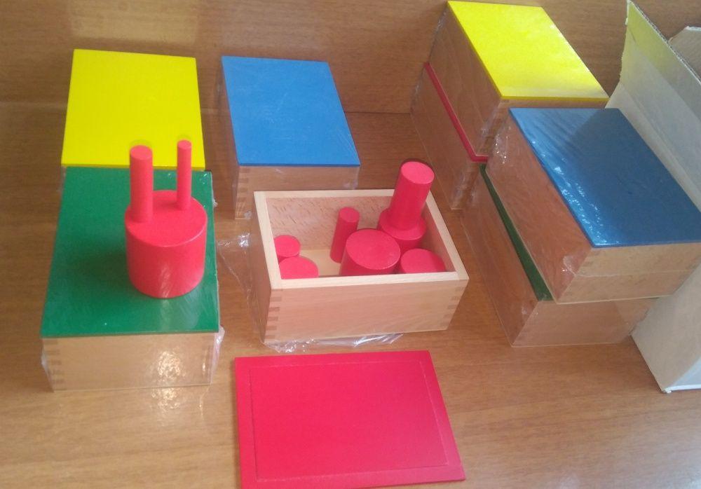 Монтесори кутии с цилиндри пълен комплект за сензорика + карти гр. Бургас - image 3