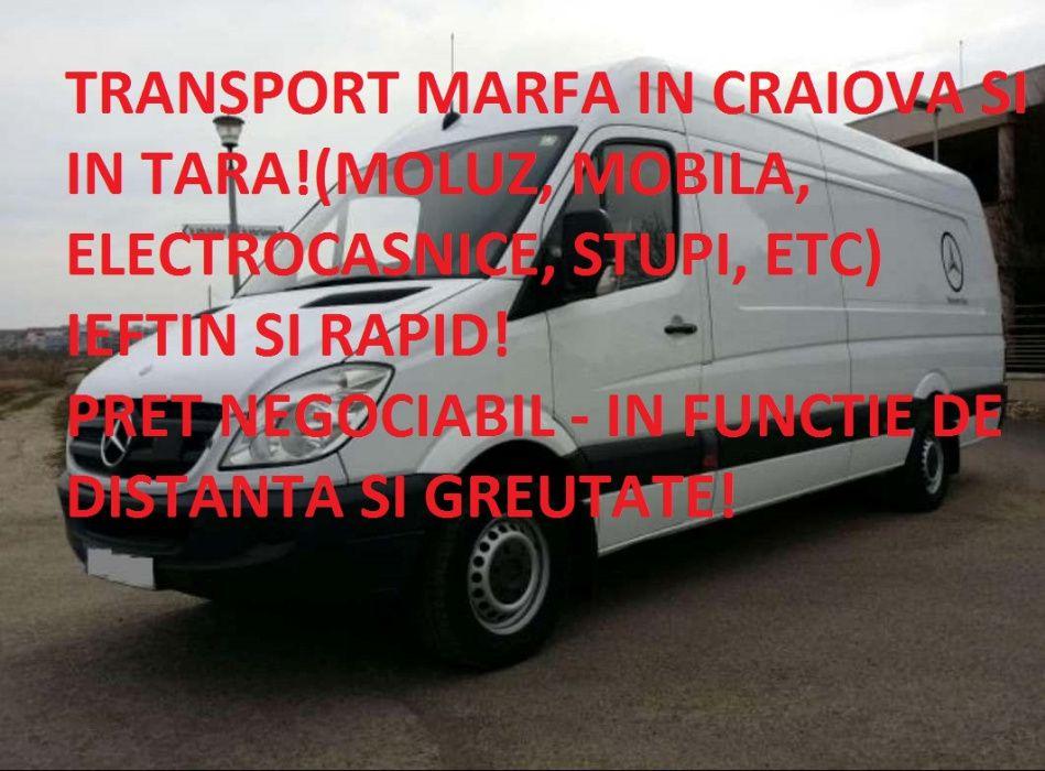 Transport marfa, mutare mobila, moloz cu manipulanti Craiova - tara
