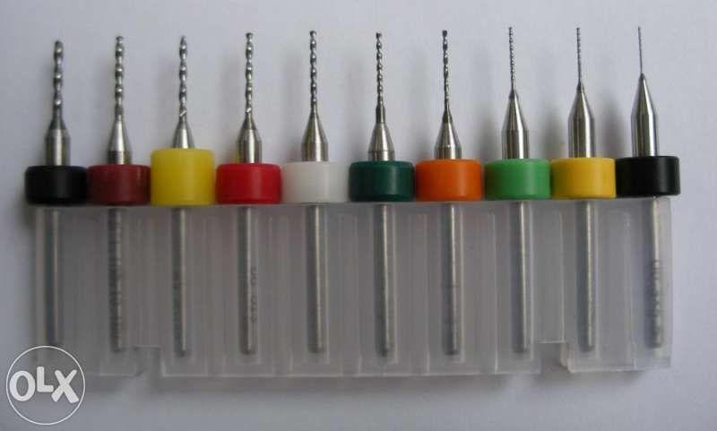 Карбидни твърдосплавни свредла Ф0.3-1.2 мм за Dremel Дремел CNC 10 бр.