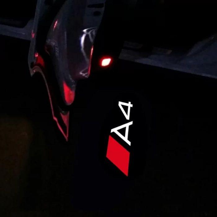 Holograme proiectoare led lumini ghost shadow Audi a4 logo led Sline