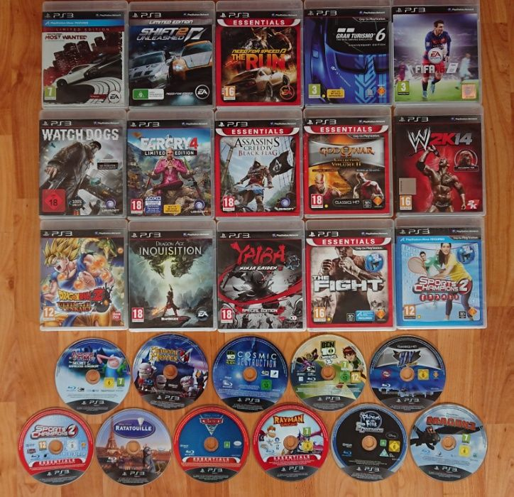 < PS3 ВСИЧКО ПО 20лв > FIFA GTA PES BEN10 God of War PlayStation 3