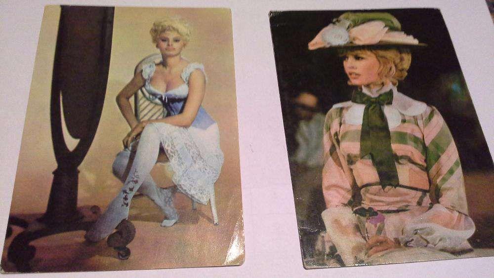 Carti postale Sophia Loren si Brigitte Bardot