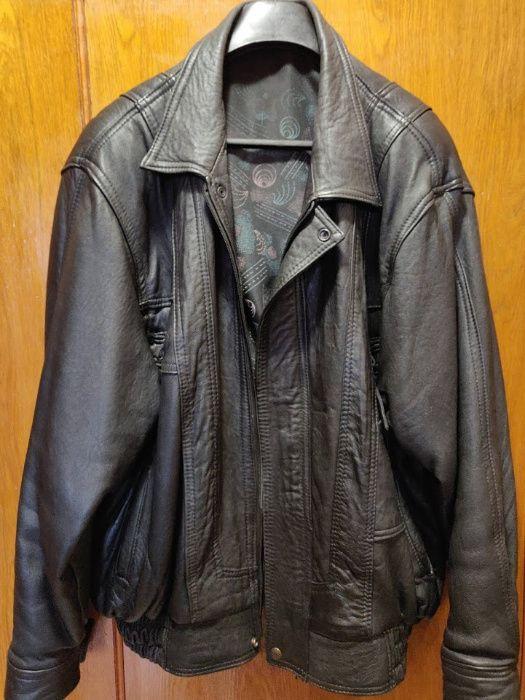 Мъжко кожено яке, естествена кожа -размер L