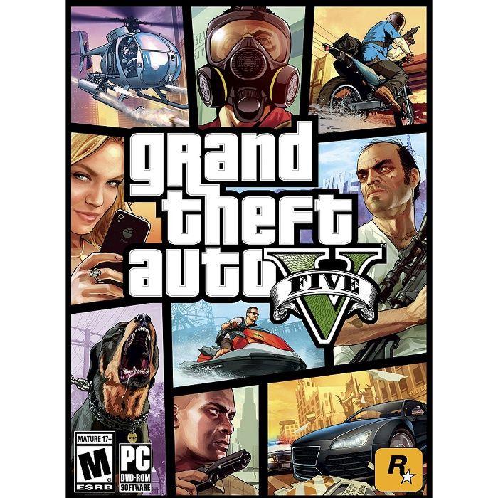 Joc Rockstar Games Grand Theft Auto V pentru PC - GTA V 5 DVD - Nou