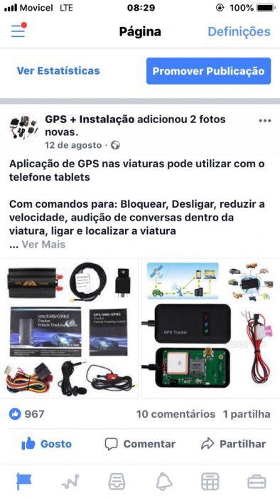 GPS com bloqueio automático