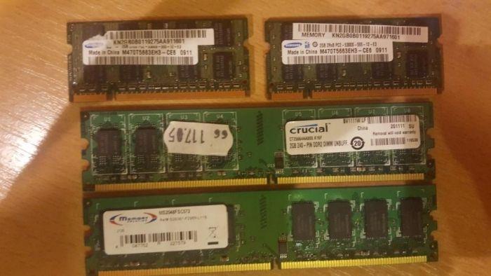 Memorie ram laptop sau pc 2gb ddr2