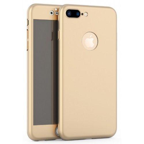 Husa 360 grade pentru iPhone 8 Plus Aurie