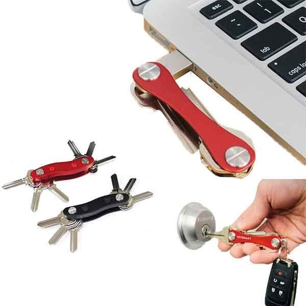 Ключодържател с фенерче - практичен органайзер за 12 ключа