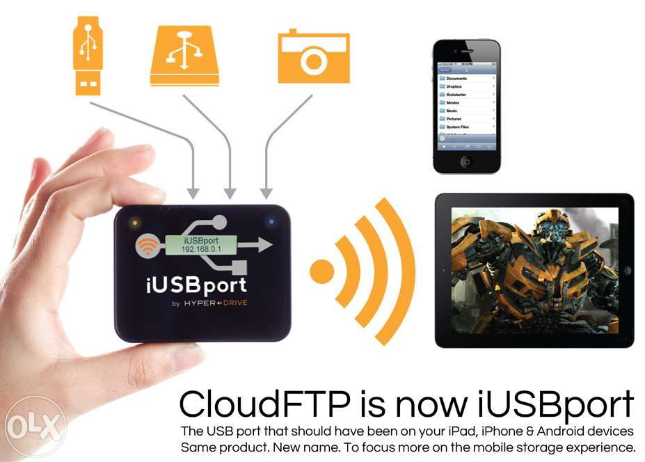 iUSB PORT fost CLOUD FTP by Hyper Drive USB gadget conectare wi-fi