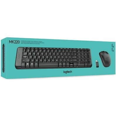 Logitech Mk220 kit teclados e mouse wireless