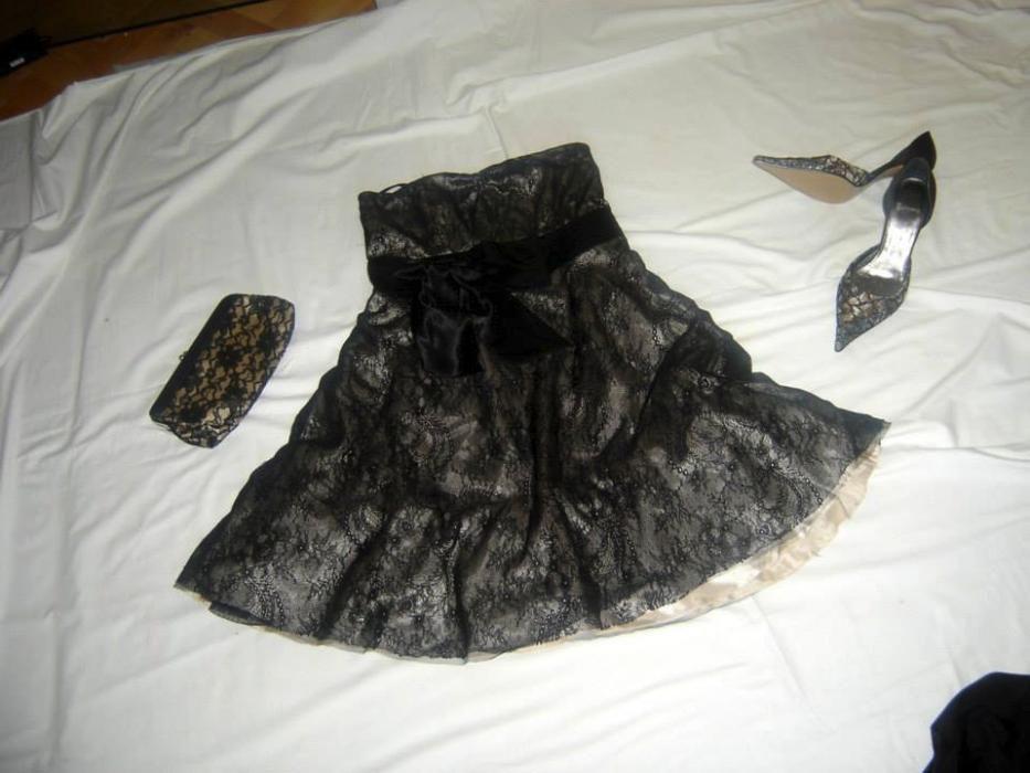 rochie dama gala plus pantofi si gentura asortate