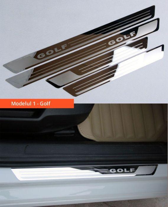 Ornamente inox praguri (9 modele) -VW Golf 4-7, Passat B6 B7 B8, Jetta Bucuresti - imagine 2