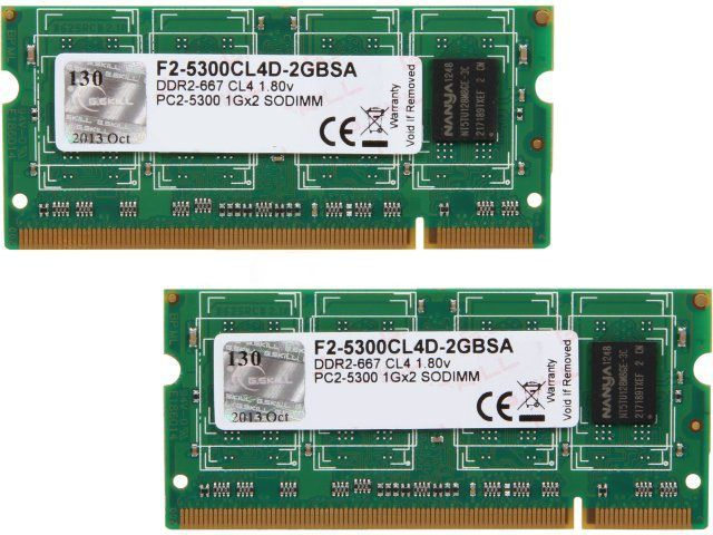 Kit Memorie RAM 2Gb DDR2 Laptop