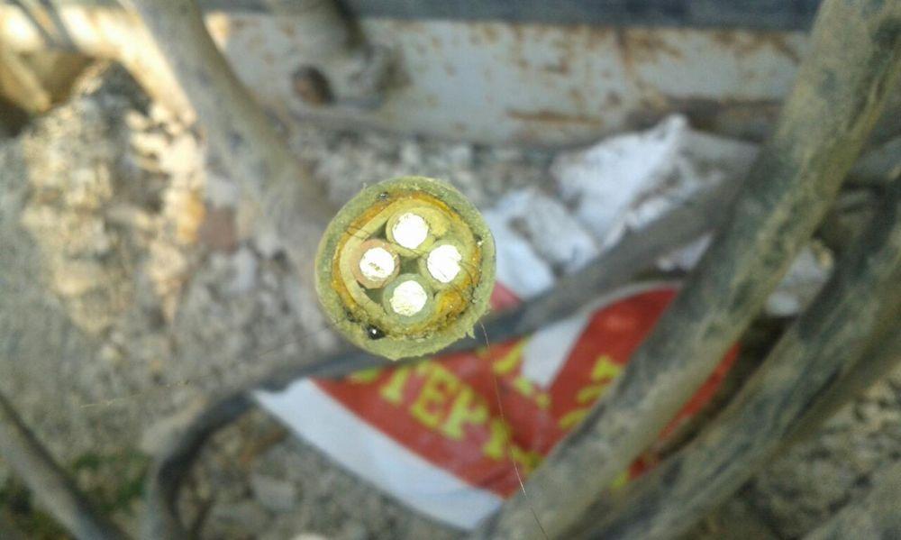 обмен или продам кабель 4 жильный алюминий электрический защищенный