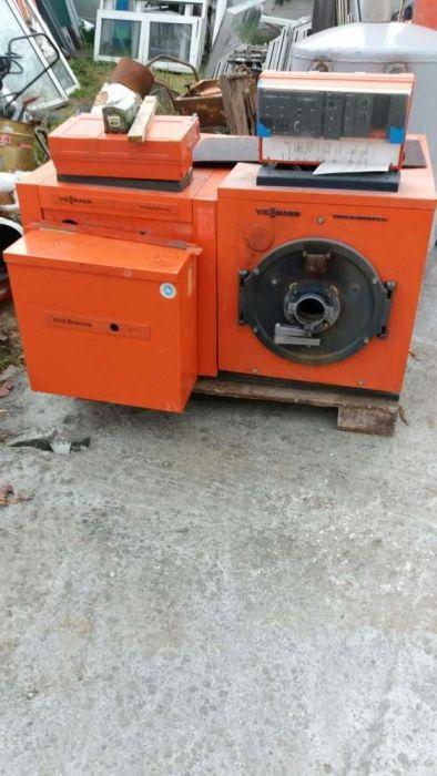 Cazan lemne ulei boiler puffer