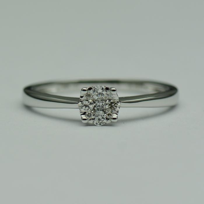 Inel de logodna din aur alb 18k, cu diamante (cod 1415)