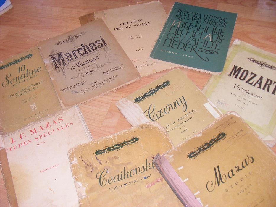 Carti vechi de muzica,carti cu partituri de pian,vioara,carti rare