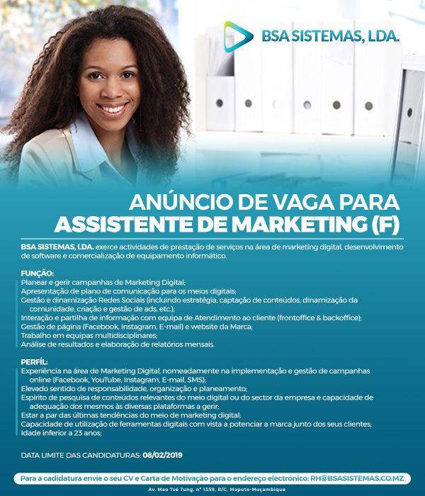 Assistente de Marketing Digital (f)