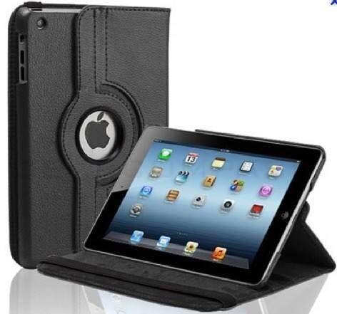 Capa lether stand giratórias para iPad 2/3/4