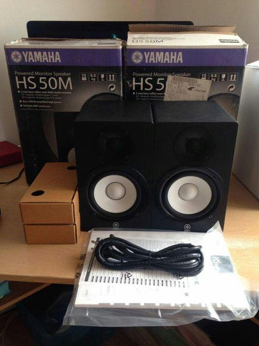Coluna profissional de Estúdio de marca Yamaha HS-50M produto novo