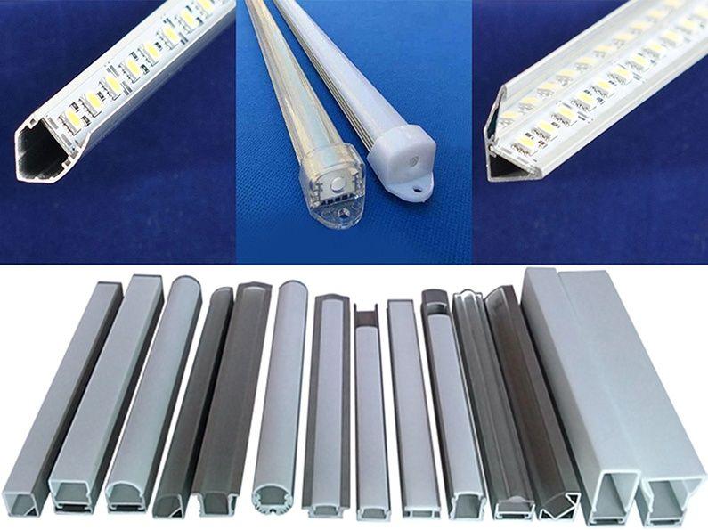 Алюминиевый профиль для свето-диодных планок линеек + LED ленты разные