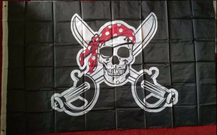 Нов голям пиратски флаг с размер 90/150см - интересен подарък