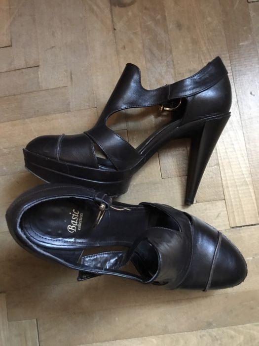 Sandale / platforme Zara piele naturala