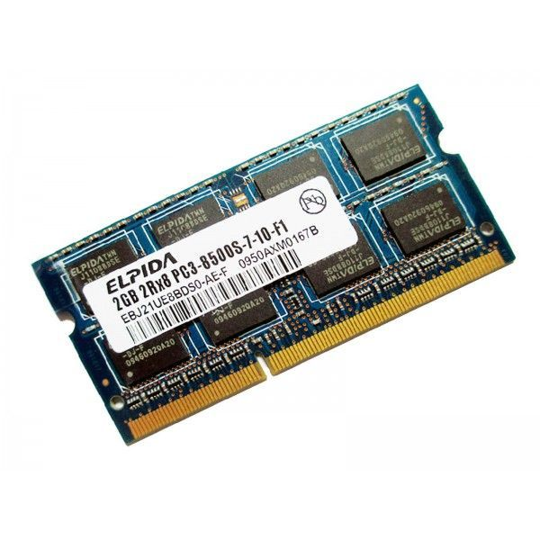 MEMO55RIE LAPTOP Elpida 2GB 1Rx8 PC3-8500S-7-10-F1 DDR3