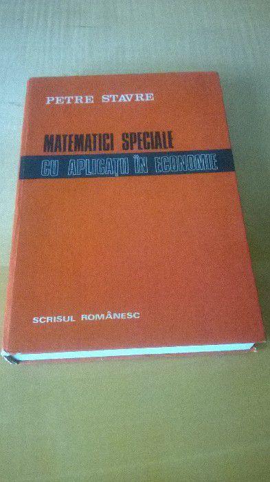 Matematici speciale cu aplicatii in economie