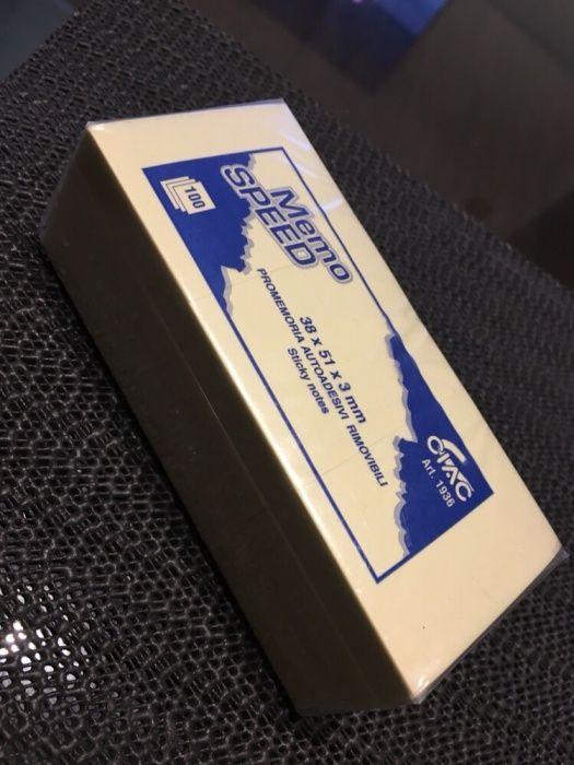 Set 5 x Sticky notes autoadezive 38 x 51 x 3 mm (500 buc)